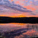 Sunset in Risveden