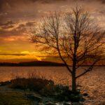 Sunset by Lake Mjörn, Alingsås